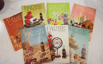 PAUSE FOR LIVING Print Book Ads Coca Cola 1961-1970 Vintage Booklets