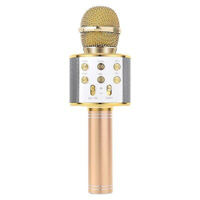 Handheld Bluetooth Wireless Karaoke Microphone Phone Player MIC Speaker Rec X7Y4