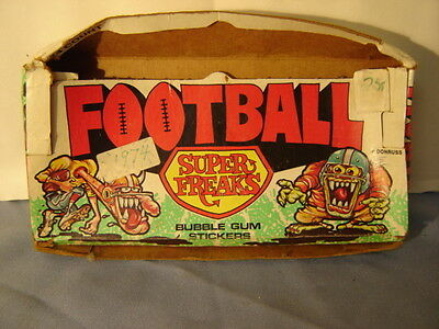 Vintage Football Super Freaks Bubble Gum Stickers Empty Display Box Ed Roth