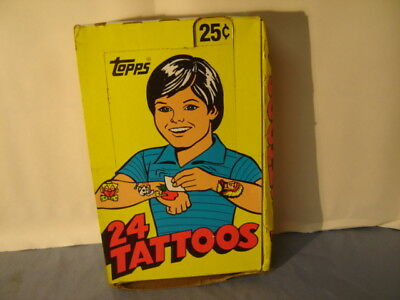 Vintage Topps 30 Tattoos Display Box 34 Wrappers