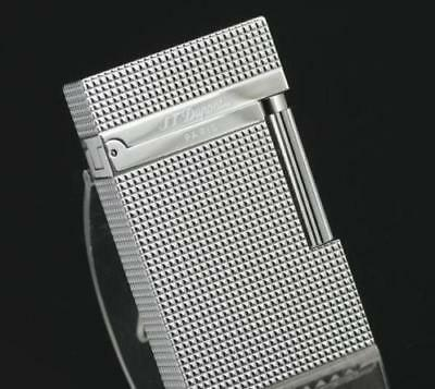 NEW S.T Dupont silvery lighter Memorial brushed Bright Sound