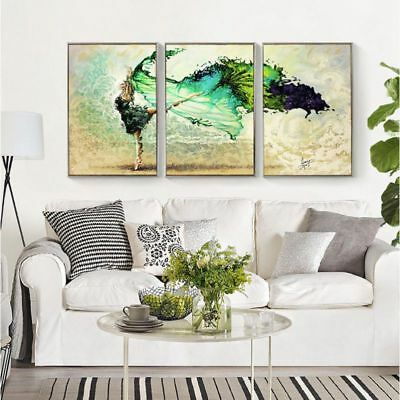 Frameless Painting & Calligraphy Dancer DIY Painting By Numbers Modern Wall W9D1