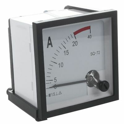 AC 0-20A Current Testing Analog Panel Meter Ammeter, Square T1H2