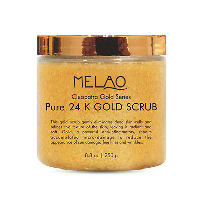 MELAO 24K Gold Body & Facial Scrub,Anti Aging Face and Body Scrub Formula H E7H3