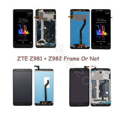 LOT Replacement LCD Touch Screen Digitizer Assembly + Frame For ZTE Z981 Z982