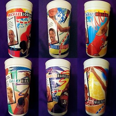 "*COMPLETE SET* OF VINTAGE 1994 MCDONALD'S NBA CUPS - ""NOTHING BUT NET"" MVPs"