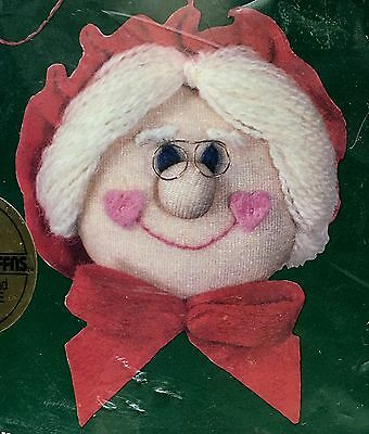 Dimensions Puffie Stuffns Mrs Claus Christmas Ornament Soft Sculpture Embroidery