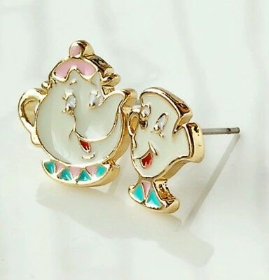 Beauty And The Beast Earrings Mrs pots and Chip set Birthday Christmas  816