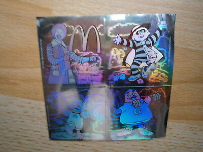 MC DONALD's Aufkleber 1993 4 Sticker CARD 3D EFFEKT