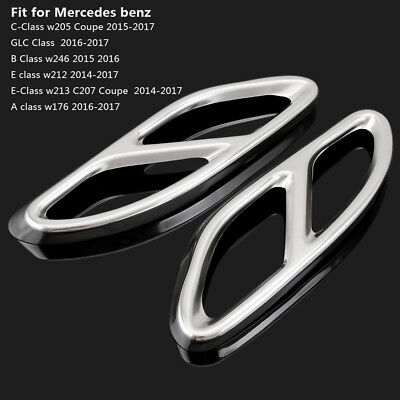 Stainless Steel Exhaust Pipe Cover Trim for Mercedes W205 W246 W212 W213 W176