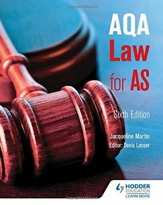AQA Law for AS Sixth Edition,Jacqueline Martin