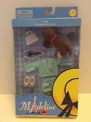 Learning Curve Madeline Vet Doctor Poseable Doll Outfit And Puppy Dog RARE NEW