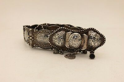 Antique Original Perfect Silver Niello Amazing Ottoman Armenian Belt