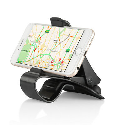 Car Mount Phone Holder with Cable Clamp - BLACK