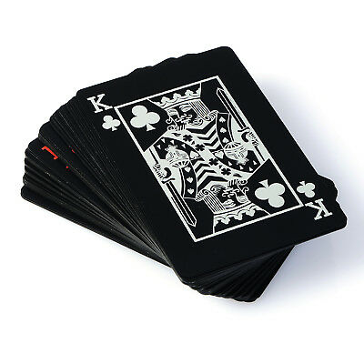 Creative Black Plastic PVC Poker Waterproof Magic Playing Cards Table Game 2018