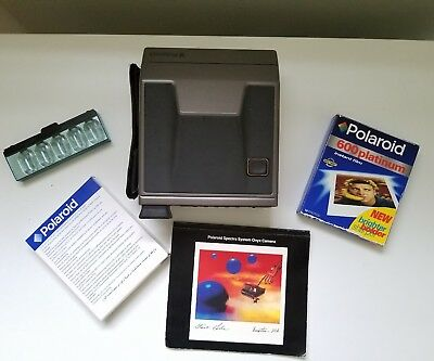 Polaroid Spectra System Onyx Camera Not Tested Film Manual Flash Bar