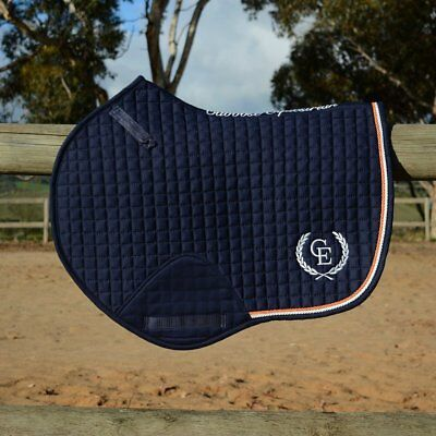 Caboose Equestrian Signature Close Contact Jump Saddle Pad - Midnight