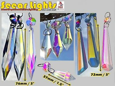 Chandelier Glass Crystals Ab Droplets Icicle Christmas Tree Decorations Beads