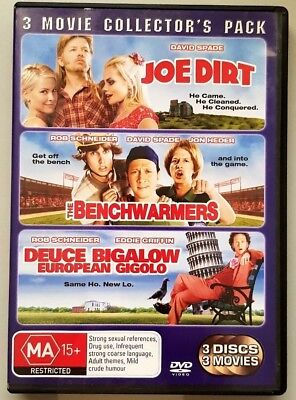 Joe Dirt / The Benchwarmers / Deuce Bigalow European Gigilo (DVD) (Region 4)
