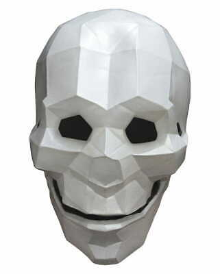 Latexmaske Low Poly Totenkopf für Halloween
