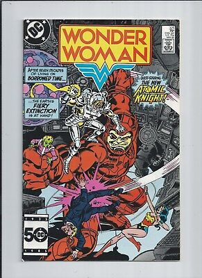 Wonder Woman #325 NM- (9.2) 1985 The New Atomic Knight! White pages!