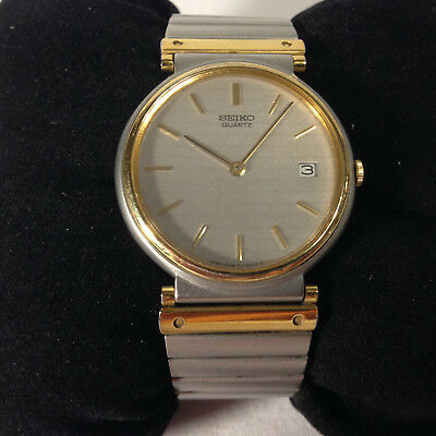 Seiko 5P39-6000 3 Jewels Vintage Thin Silver and Gold Vintage Watch New Battery