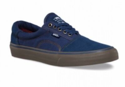 825e2c342872 Vans Mens 8 Womens 9.5 Rowley Solos Navy Blue Gum Canvas Suede Shoes  Sneakers