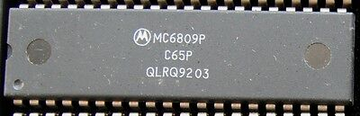 Motorola MC6809P 8 Bit 40 Pin Microprocessor used fully tested.