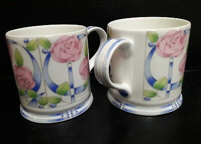 QUEEN'S  MACKINTOSH CORAL ROSES MUG x 2