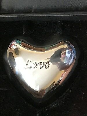 """Brighton """"Love"""" Heart Chime Paperweight -- New in gift box"""