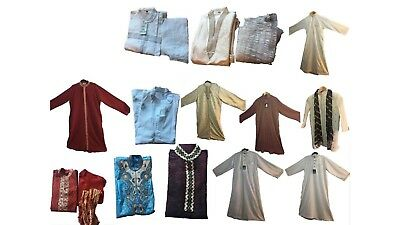 Men Kids Islamic Dress Jubba Kurta Pyjama Eid Shalwar Sherwani Panjabi ALL SIZES