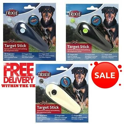 Trixie Target Stick With Integrated Clicker Suitable For Dogs Cats Rabbits Birds