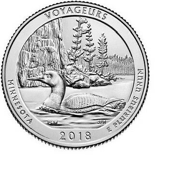 2018  S Minnesota Voyageurs National Park 1 Quarter ( PRESALE )