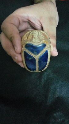 ANCIENT EGYPTIAN SCARAB RARE ANTIQUE SCARAB  Carved Stone 1200-1170 BC