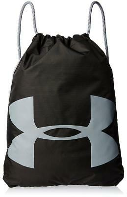 Under Armour Ozsee Drawstring Sackpack in Black and Steel - FREE Shipping