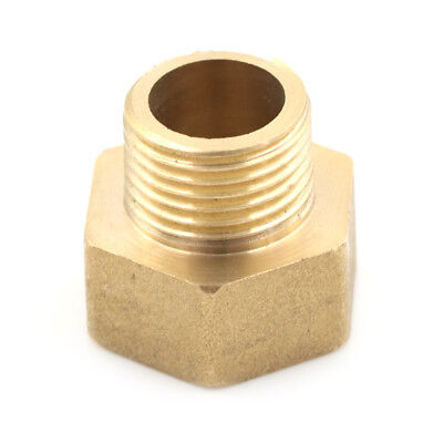 "Metal Brass Metric BSP G 3/4"" Female to NPT 1/2"" Male Pipe Fitting Adapter @SE"