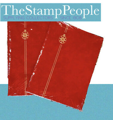 x2 ⭐️ *Red* A4 Compass Stamp Album Stockbooks - 8 Pages/ 16sides ~BLACK PAGED