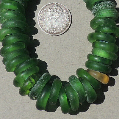 group of antique dutch dogon annular donut glass beads senegal mali #1650