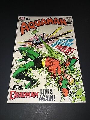 Aquaman #50 DEADMAN Neal Adams Cover Art 1970 Bronze Age comic book FN 6.0 OWP