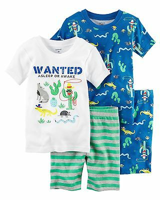 NEW Carter's Boys 4 Piece Western Cotton PJs NWT 2T 3T 4T 5T 6 7 8 12 Summer