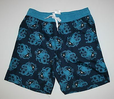 New Gymboree Outlet Octopus Pirate Navy Blue Swim Trunks Suit Size 2T 3T NWT