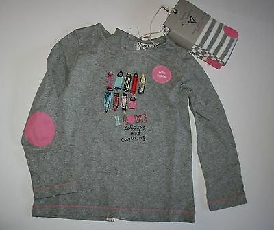 New NEXT UK Pencil Top and Tights size 2 3 Year 98 cm NWT Love To Color
