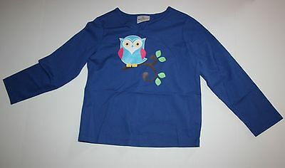 New Hanna Andersson Owl on Branch Split Neck Tee Top Shirt Size 4 5 6 or 110 NWT
