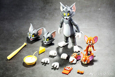 Cartoon Tom and Jerry Action Figures PVC Model Cat&Mouse Toys Flexible In Stock