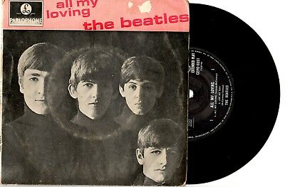 "The Beatles - All My Loving - Aussie 1St Pressing Ep 7"" 45 Record Pic Slv 1964"