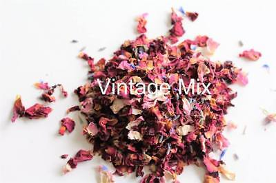 dried flower petal pink red blue lavender biodegradable confetti pot pourri soap