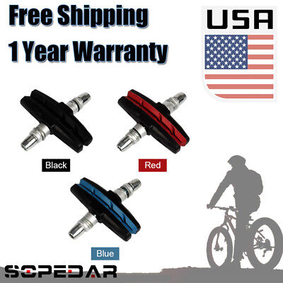 1pair Mountain Bike V-Brake Pads Blocks Cycling Road Bicycle MTB Silent Durable