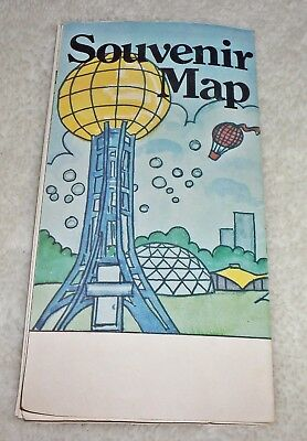 vintage 1982 worlds fair official souvenir guide map knoxville tennessee rare