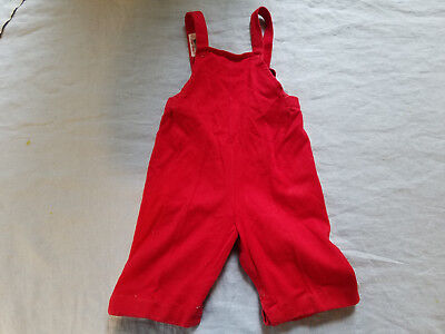 Vintage cotton red knit suspenders Buster Brown 13-18 lbs. suder duper cute!!