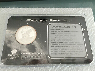 Project Apollo medal - Apollo 11, with case and certificate